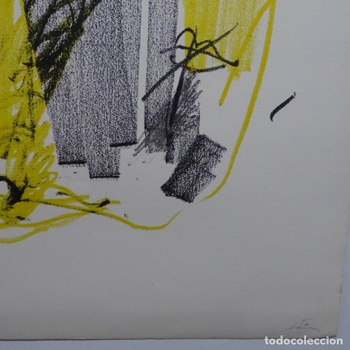 """Arte: Litografia de antoni tapies.""""Quatre barres"""".Edición de 100 ejemplares.sala gaspar.1971.p a - Foto 9 - 190178483"""