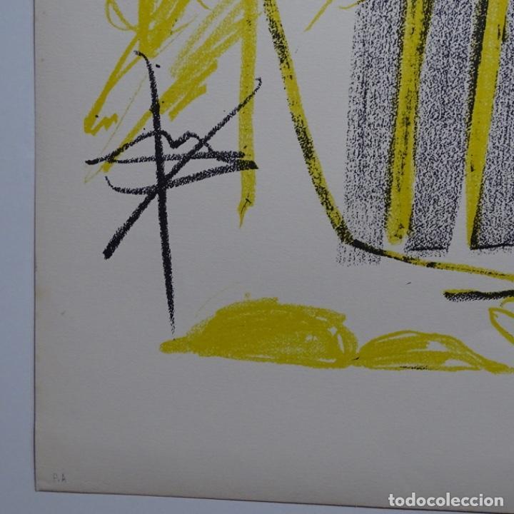 """Arte: Litografia de antoni tapies.""""Quatre barres"""".Edición de 100 ejemplares.sala gaspar.1971.p a - Foto 10 - 190178483"""