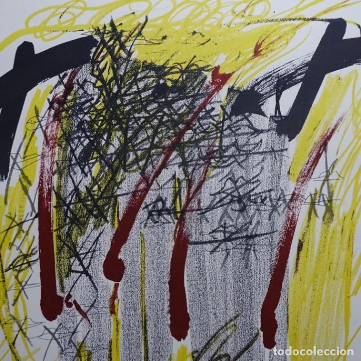 """Arte: Litografia de antoni tapies.""""Quatre barres"""".Edición de 100 ejemplares.sala gaspar.1971.p a - Foto 11 - 190178483"""