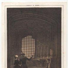 Arte: CUENCA.- LITOGRAFÍA UNA VENTANA DEL CASTILLO DE BELMONTE. LIT. DE J. DONON, MADRID. 18X24,5.. Lote 190228435
