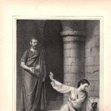 Arte: LITOGRAFIA SANTA MARTA. MUJERES CELEBRES. SIGLO XIX. Lote 190228691