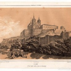 Arte: UCLÉS.(CUENCA).- LITOGRAFÍA CASA MATRIZ DE LA ORDEN DE SANTIAGO. LIT. DE J. DONON, MADRID. 24X19.. Lote 190228740