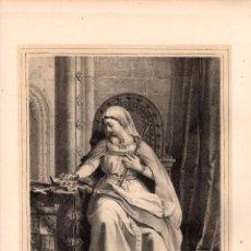 Arte: LITOGRAFIA BERENGUELA LA GRANDE. MUJERES CELEBRES. SIGLO XIX. Lote 190229990