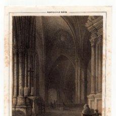 Arte: CIUDAD REAL.- LITOGRAFÍA PARROQUIA DE SAN PEDRO. LIT. DE J. DONON, MADRID.18X23.. Lote 190326857