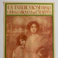 Arte: CARTEL ORIGINAL DE RAMÓN CASAS , AÑO 1918 , IMPRENTA THOMAS , 106 X 55 CM.. Lote 178778288