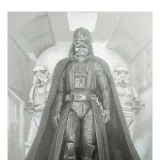 Arte: LITOGRAFÍA EDICIÓN ESPECIAL VADER & TROOPERS -STAR WARS-. AUTOR: M. ALFARO. Lote 190623418