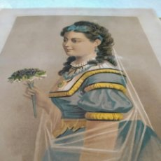 Arte: CROMOLITOGRAFÍA ORIGINAL, ANTIGÜEDADES, 1875 . HINDERMANN Y SIEBERMANN FRANCIA. Lote 191176006