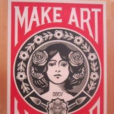 Arte: OBEY (SHEPARD FAIREY)-FIRMADA- MAKE ARTE NOT WAR-ESPECTACULAR LITOGRAFÍA GRAN CALIDAD-61X91CM. Lote 191178501