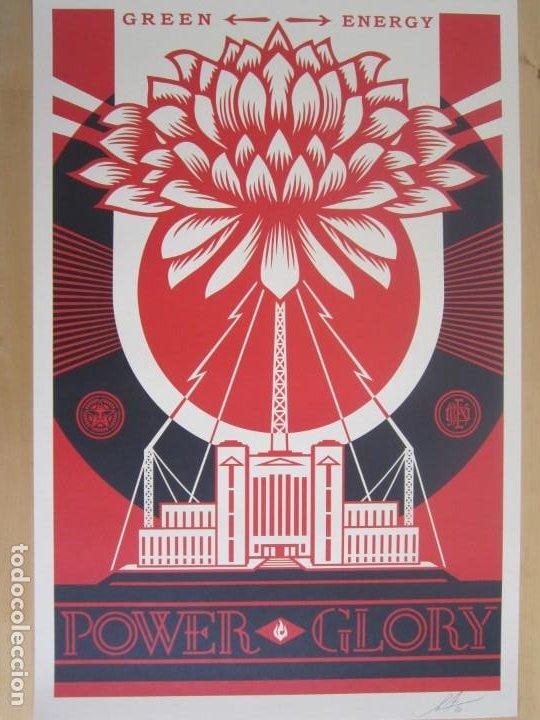 OBEY (SHEPARD FAIREY)-FIRMADA- POWER GLORY-ESPECTACULAR LITOGRAFÍA GRAN CALIDAD-61X91CM (Arte - Litografías)