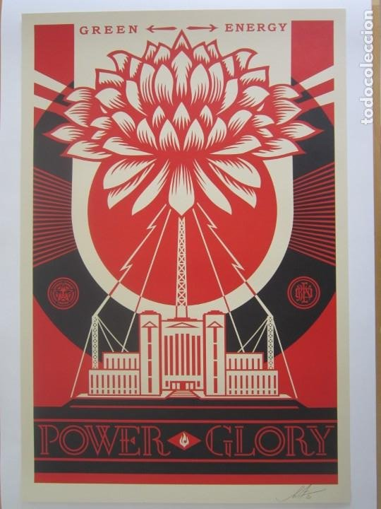 Arte: OBEY (Shepard Fairey)-Firmada- Power Glory-Espectacular Litografía Gran Calidad-61x91cm - Foto 7 - 191179761