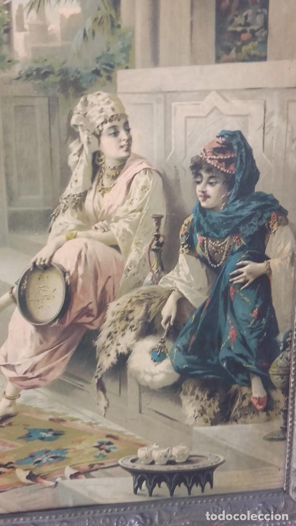 Arte: Cuadro de Luigi Crosio (1898).Escuela Europea.Escena morisca.La Danza. - Foto 2 - 191210318