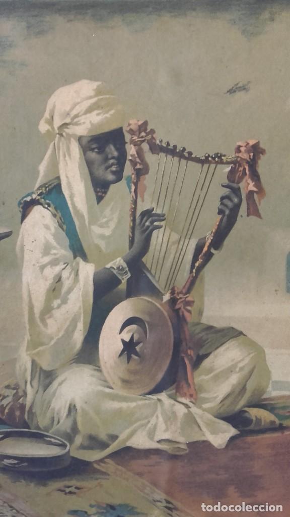 Arte: Cuadro de Luigi Crosio (1898).Escuela Europea.Escena morisca.La Danza. - Foto 4 - 191210318