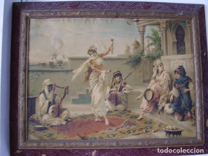 Arte: Cuadro de Luigi Crosio (1898).Escuela Europea.Escena morisca.La Danza. - Foto 8 - 191210318