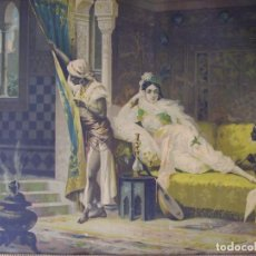 Arte: CUADRO DE LUIGI CROSIO (1835-1915).ESCUELA EUROPEA.ESCENA MORISCA.. Lote 191213218