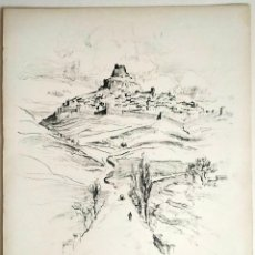 Art: 1926 MORELLA CASTELLÓN - VISTA GENERAL - CARBONCILLO - VERNON HOWE BAILEY. Lote 191409693