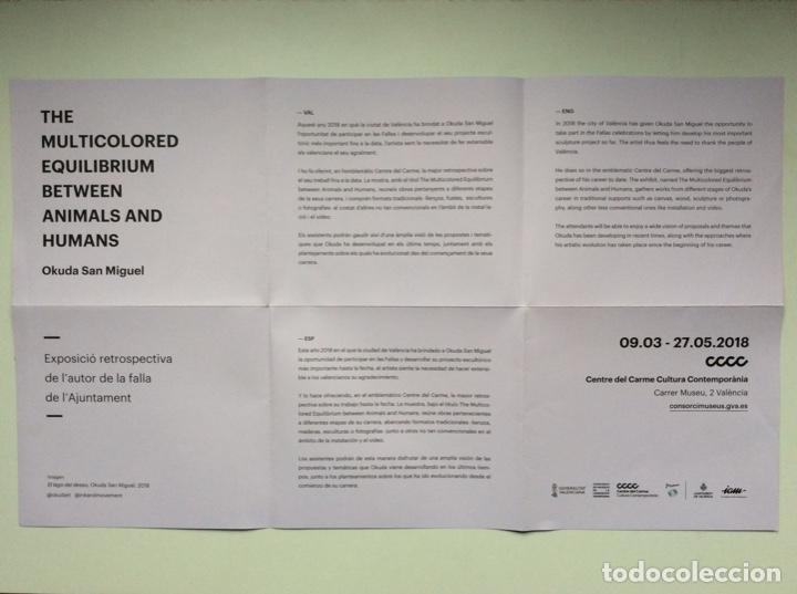 """Arte: Envío 8€. Guía folleto/reproducción """"el lago del deseo"""" 2018 de OKUDA SAN MIGUEL en el CCC. - Foto 3 - 218074723"""