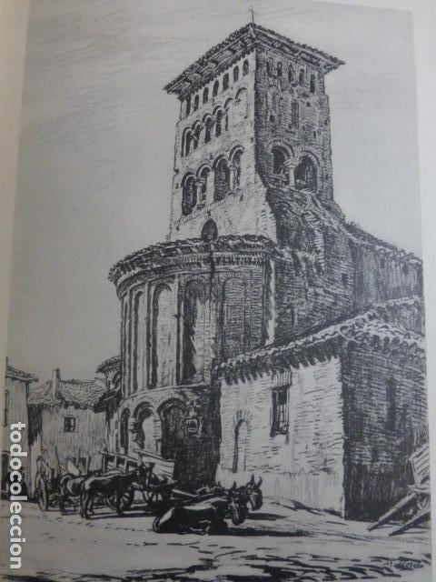 SAHAGUN DE CAMPOS LEON SAN TIRSO LITOGRAFIA POR ARTISTA VIAJERO INGLES BONE 13,5 X 22 CMTS (Arte - Litografías)