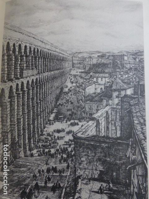 SEGOVIA ACUEDUCTO LITOGRAFIA POR ARTISTA VIAJERO INGLES BONE 13,5 X 22 CMTS (Arte - Litografías)