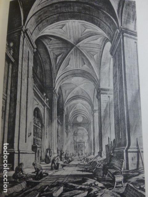 VALLADOLID LA CATEDRAL INTERIOR LITOGRAFIA POR ARTISTA VIAJERO INGLES BONE 13,5 X 22 CMTS (Arte - Litografías)