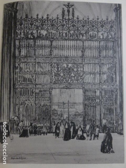 GRANADA LA CAPILLA REAL LITOGRAFIA POR ARTISTA VIAJERO INGLES BONE 13,5 X 22 CMTS (Arte - Litografías)