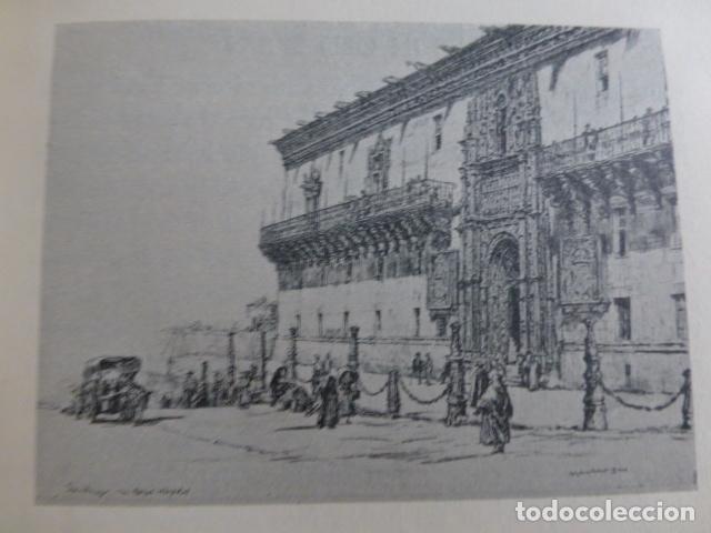 SANTIAGO DE COMPOSTELA LITOGRAFIA POR ARTISTA VIAJERO INGLES BONE (Arte - Litografías)