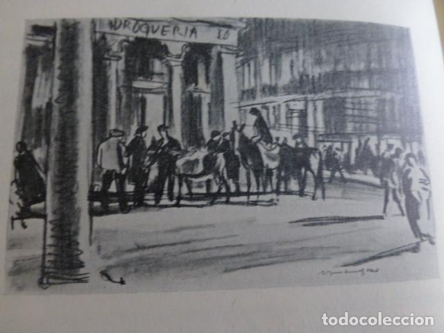 VALLADOLID PLAZA MAYOR LITOGRAFIA POR ARTISTA VIAJERO INGLES BONE (Arte - Litografías)