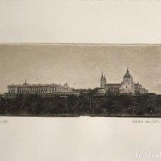Arte: LITOGRAFÍA DE SERGIO MARTÍNEZ MONASTERIO DEL ESCORIAL MADRID FIRMADA Y NUMERADA A LÁPIZ. 116/150. . Lote 191627968