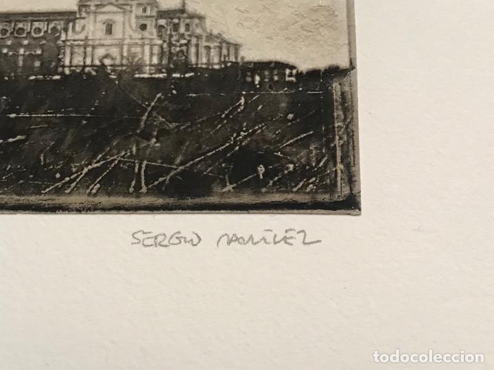 Arte: LITOGRAFÍA DE SERGIO MARTÍNEZ MONASTERIO DEL ESCORIAL MADRID FIRMADA Y NUMERADA A LÁPIZ. 116/150. - Foto 5 - 191627968