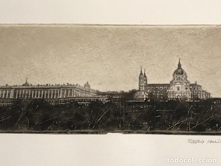 Arte: LITOGRAFÍA DE SERGIO MARTÍNEZ MONASTERIO DEL ESCORIAL MADRID FIRMADA Y NUMERADA A LÁPIZ. 116/150. - Foto 6 - 191627968