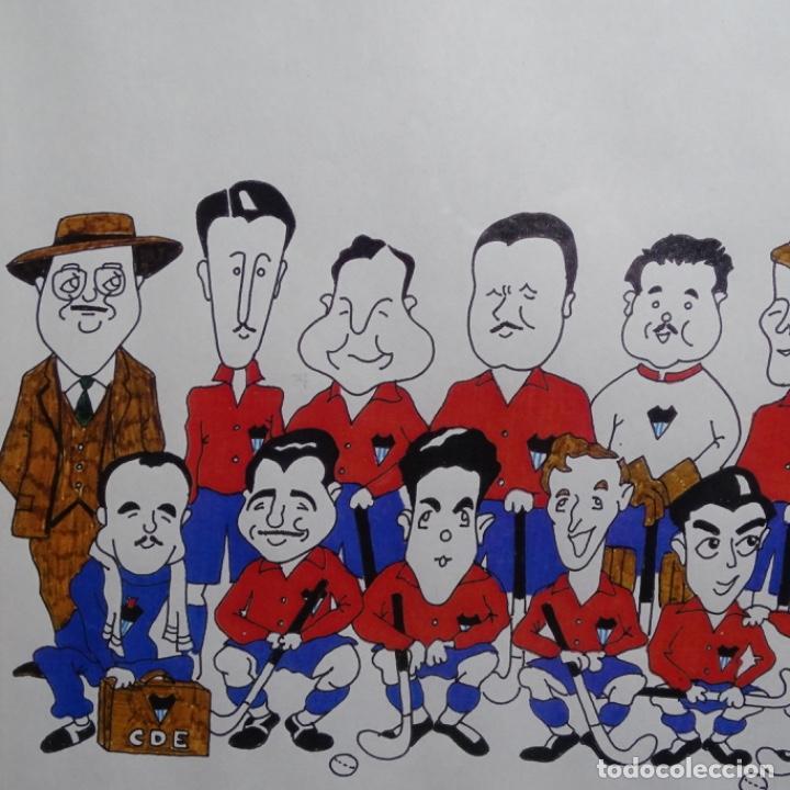 Arte: Caricatura litográfica de edi 1992.equipo del club egara ganador del campeonato de hockey 1952. - Foto 2 - 191743386