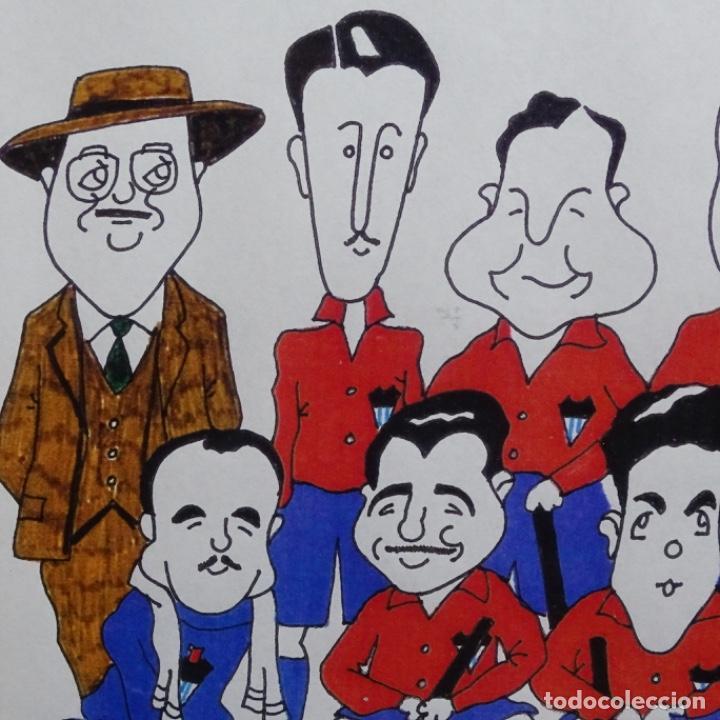 Arte: Caricatura litográfica de edi 1992.equipo del club egara ganador del campeonato de hockey 1952. - Foto 4 - 191743386