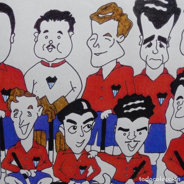 Arte: Caricatura litográfica de edi 1992.equipo del club egara ganador del campeonato de hockey 1952. - Foto 5 - 191743386