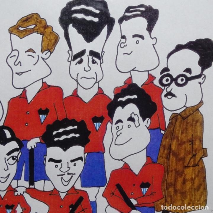 Arte: Caricatura litográfica de edi 1992.equipo del club egara ganador del campeonato de hockey 1952. - Foto 6 - 191743386