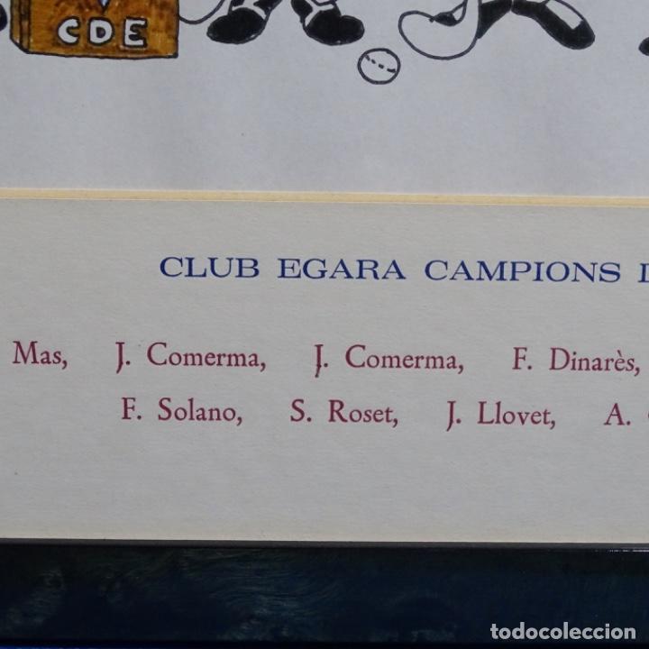 Arte: Caricatura litográfica de edi 1992.equipo del club egara ganador del campeonato de hockey 1952. - Foto 7 - 191743386