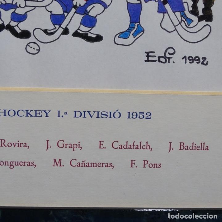 Arte: Caricatura litográfica de edi 1992.equipo del club egara ganador del campeonato de hockey 1952. - Foto 9 - 191743386