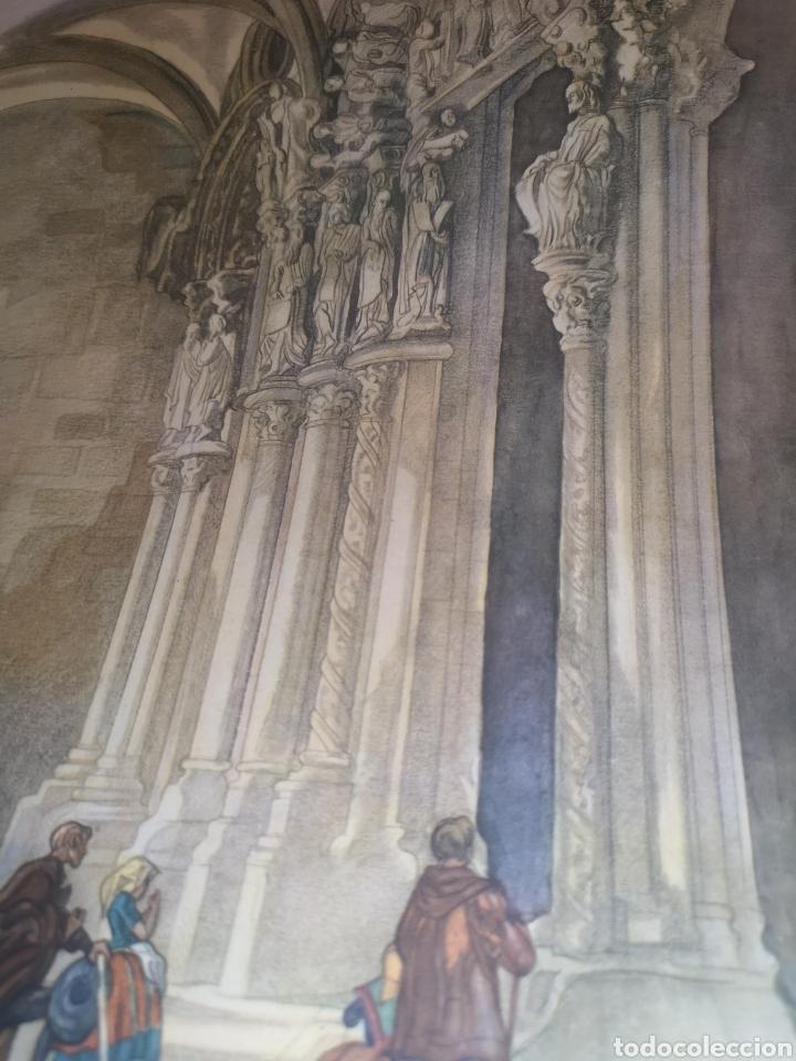Arte: Litografía Santiago de compostela - Foto 3 - 192004725