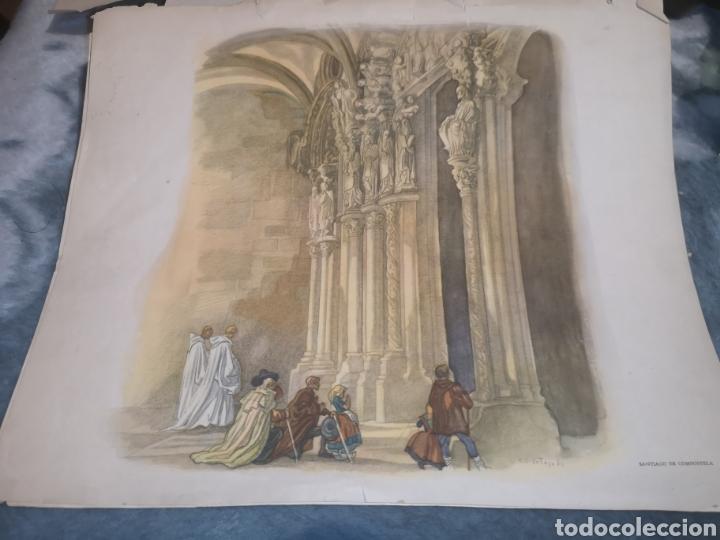 LITOGRAFÍA SANTIAGO DE COMPOSTELA (Arte - Litografías)