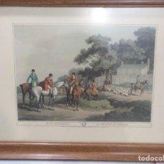 Arte: LITOGRAFÍA INGLESA ILUMINADA Y ENMARCADA. FOX HUNTING. SIGLO XIX. Lote 192029596