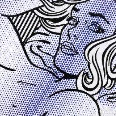 Arte: ROY LICHTENSTEIN TITULO: SEDUCTIVE GIRL GRAN FORMATO ENMARCADA. Lote 192032860