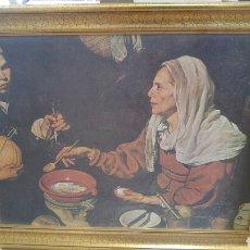 Arte: CUADRO LÁMINA CON MARCO DORADO.. Lote 192057025