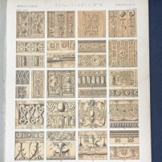 Arte: * RENACIMIENTO * RENAISSANCE Nº 8 - GRAMMAR OF ORNAMENT / JONES OWEN - 1868. Lote 192240905