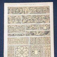 Arte: * ISABELINO * ELIZABETHAN Nº 1 - GRAMMAR OF ORNAMENT / JONES OWEN - 1868. Lote 192241032