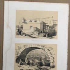 Arte: LITOGRAFIA ALGER. ARGEL. FORT NEUF D'ALGER - TOMBEAUX JUIFS. C. 1850. Lote 192459053