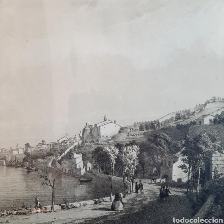 Arte: Vista de una parte del Puerto y Ciudad de Mahon / Menorca / 45cm x 35cm - Foto 4 - 193169662
