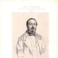 Art: LITOGRAFIA JUAN MUÑOZ DIAZ. GALERIA DE LOS REPRESENTANTES DEL PUEBLO. MURCIA. 1854. Lote 193800378