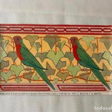 Arte: ESCUELA DE ARTES Y OFICIOS DE MALAGA , LITOGRAFÍA DE MARIN Y CORTES . 1910 APROX. Lote 194010451