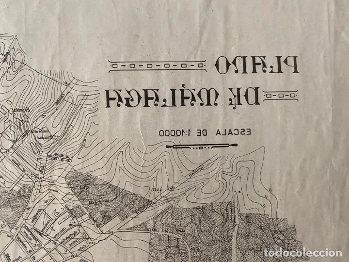 Arte: ESCUELA DE ARTES Y OFICIOS DE MALAGA , LITOGRAFÍA , PLANO DE MALAGA PARA ESTAMPAR - Foto 2 - 194011281
