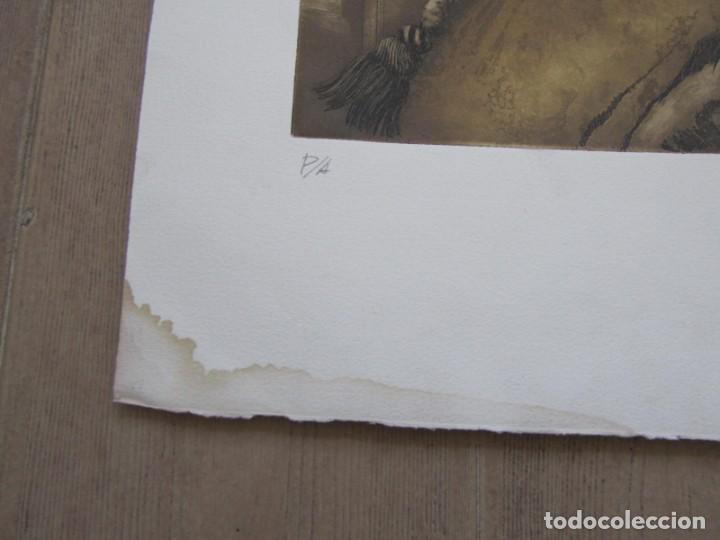 Arte: Litografía prueba de autor Vicente Arnás Lozano - Foto 3 - 194217608