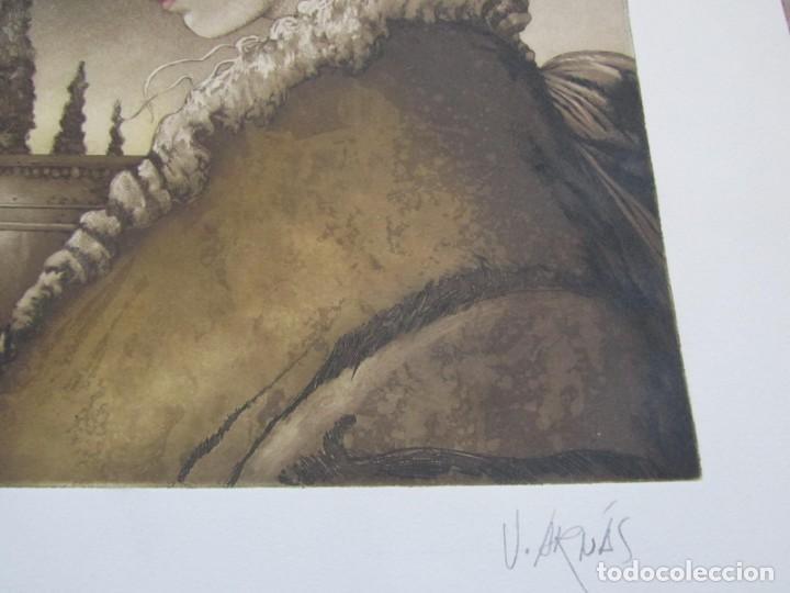 Arte: Litografía prueba de autor Vicente Arnás Lozano - Foto 8 - 194217608