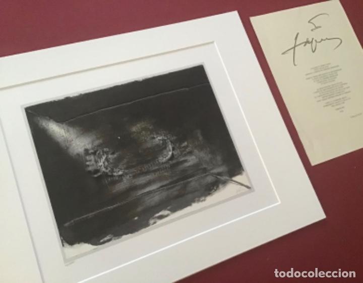 ANTONI TAPIES + CERTIFICADO DE AUTENTICIDAD (Arte - Litografías)